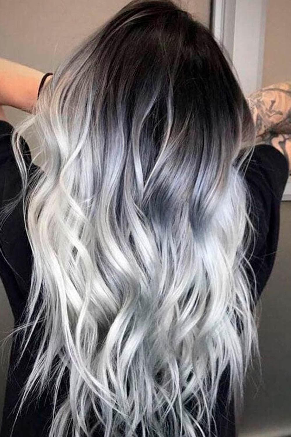 Deep Dark Balayage, what is salt and pepper look, salt and pepper hair meaning