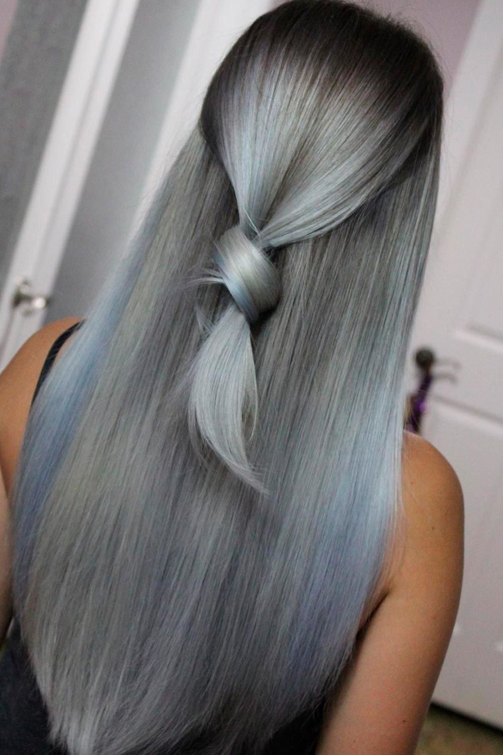 Salt And Pepper Ombre With Graphite Undertone, salt pepper hair, salt and pepper look