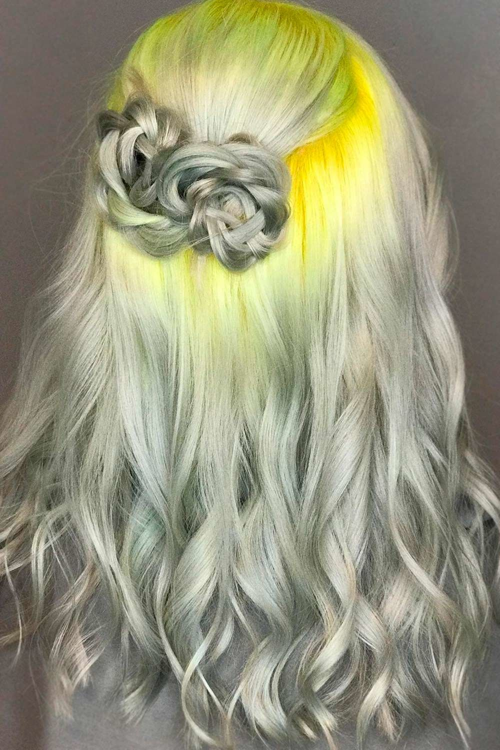 Salt And Pepper With Neon Yellow, salt-and-pepper hair, peppered hair
