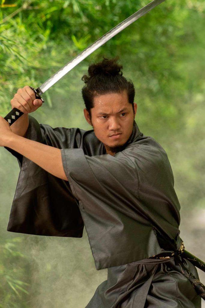 Cosplay Samurai Hairstyle