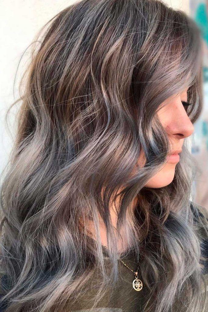 Ash Gray Hair Color Shade