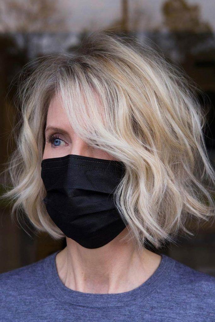 Face-Framing Balayage for Short Hair