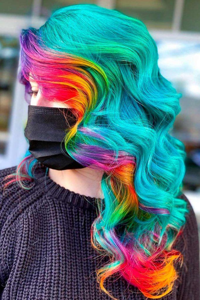 Bright Multicolored Hair