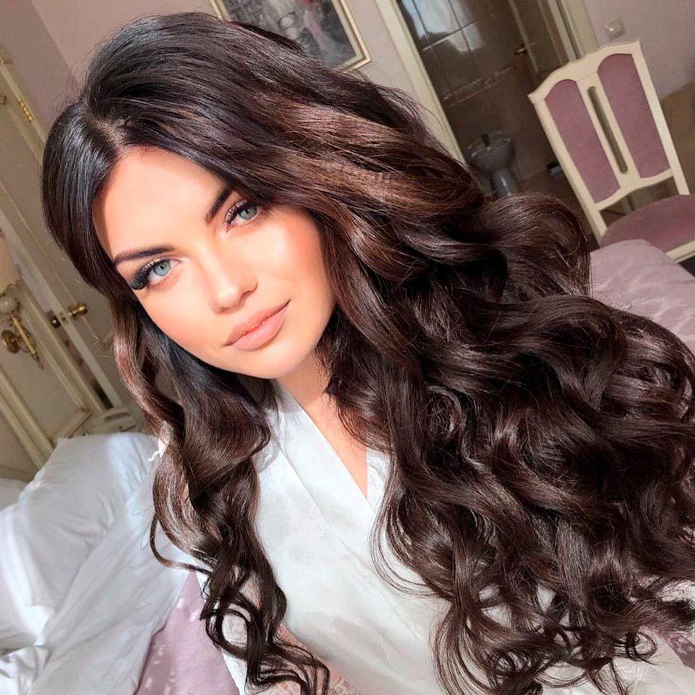 Deep Brown Wood Hair