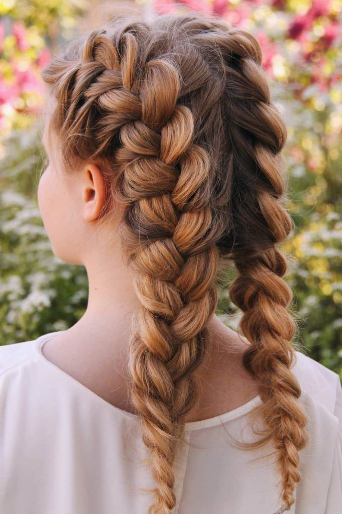 Two French Braids To DIY