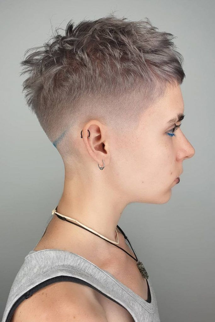 Short Pixie With Faded Sides