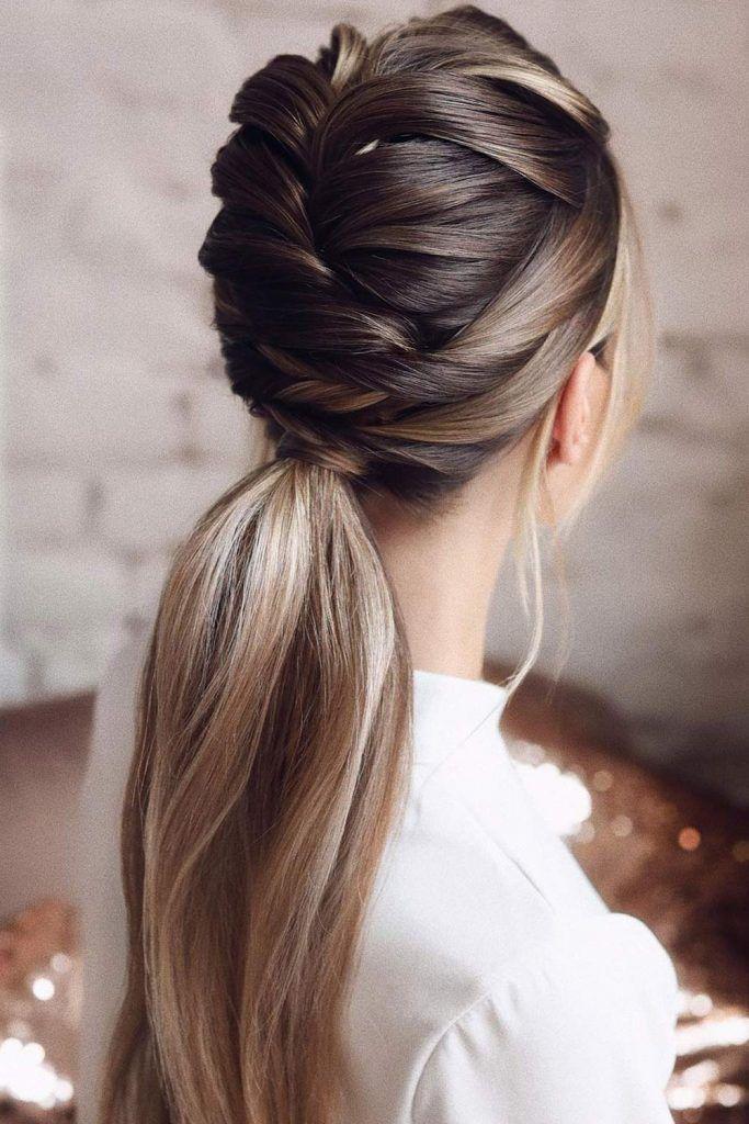 Braided Top Hair Ponytail