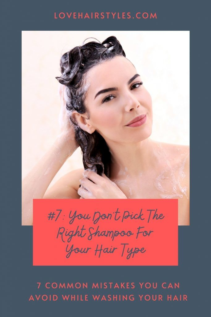 Your Shampoo Is Not Aimed At The Type Of Your Hair