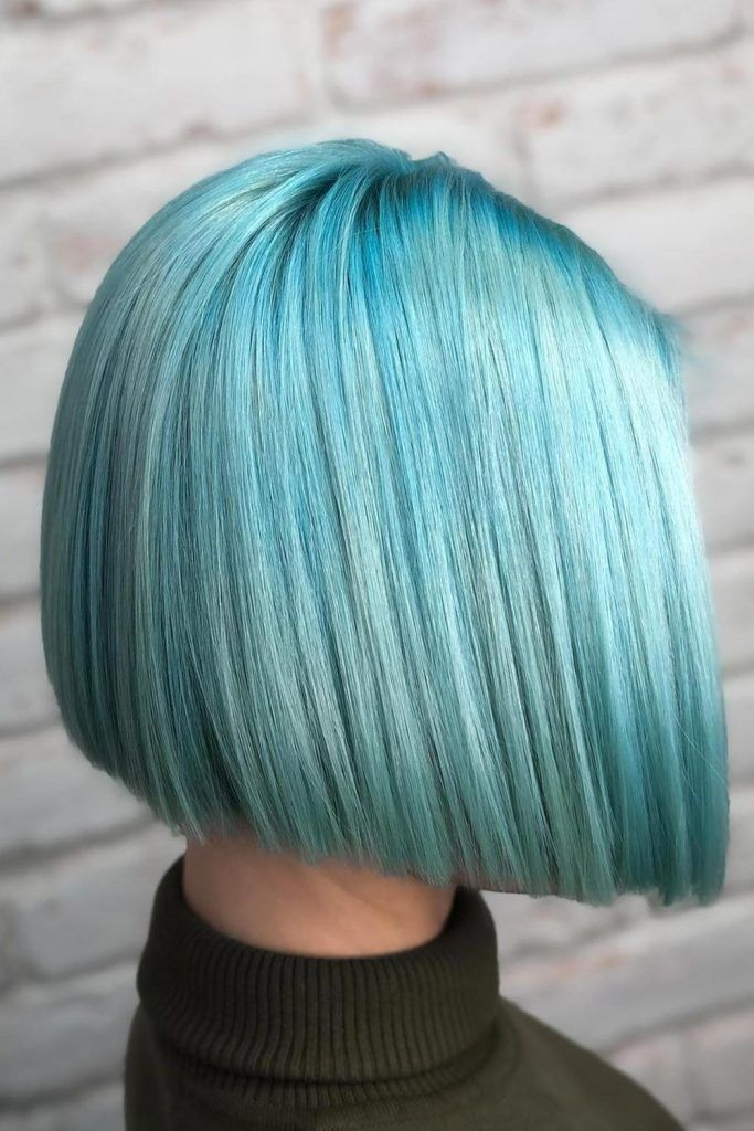 Bright Blunt Style For Short Straight Hair
