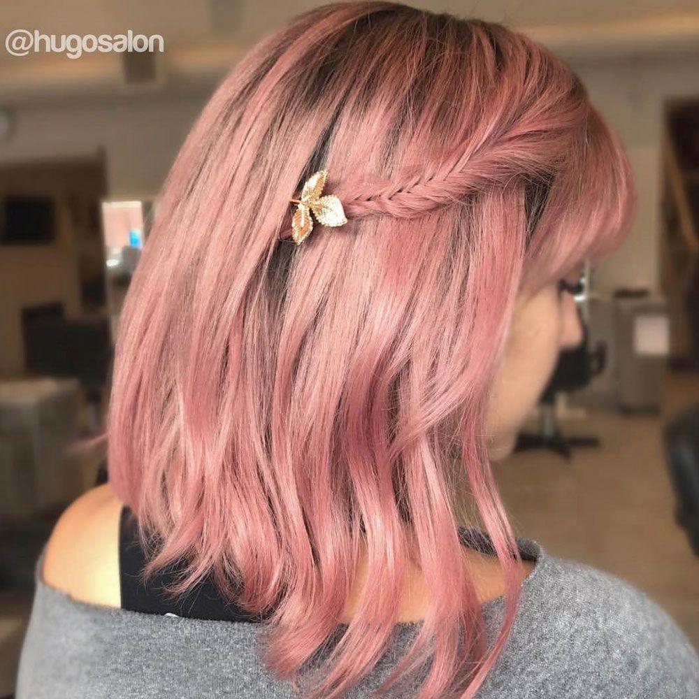 Braided Bang With Bob Haircut