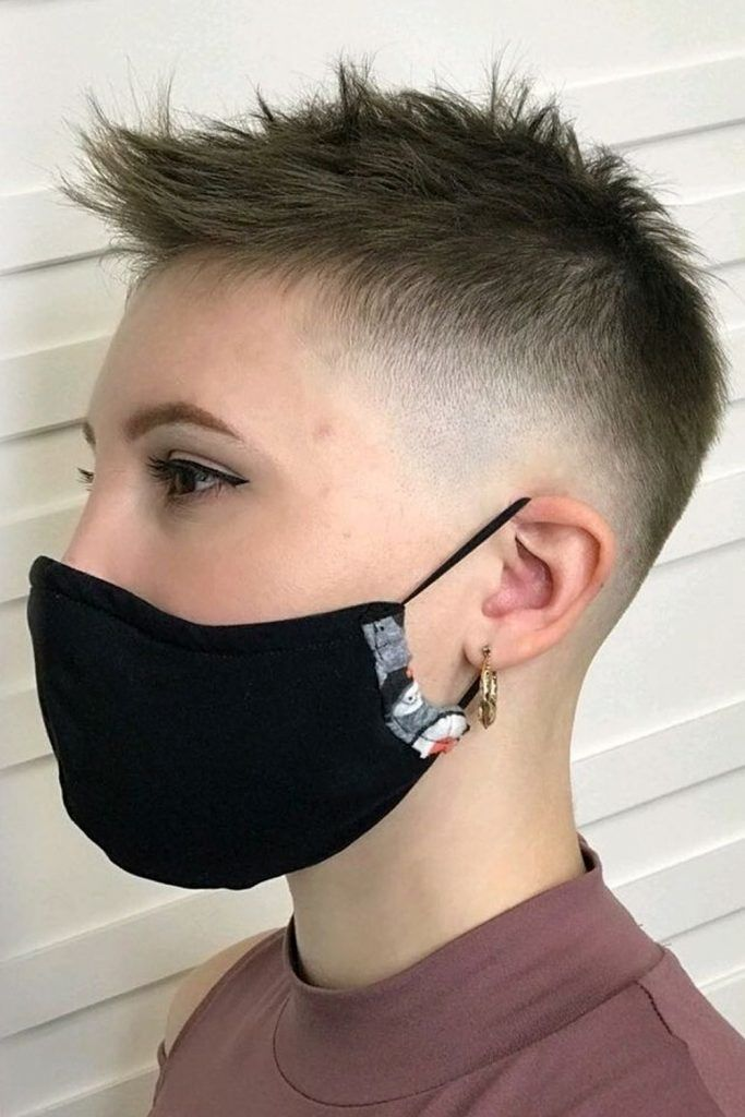 Extra Short Women's Hairstyle Idea