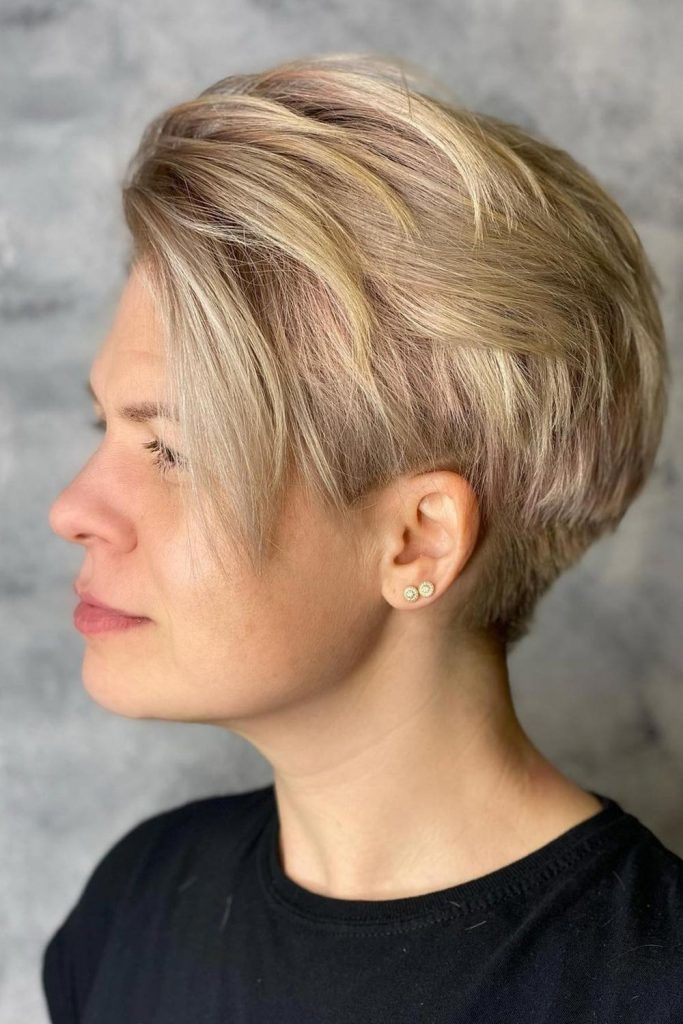 Side-Swept Long Layered Pixie