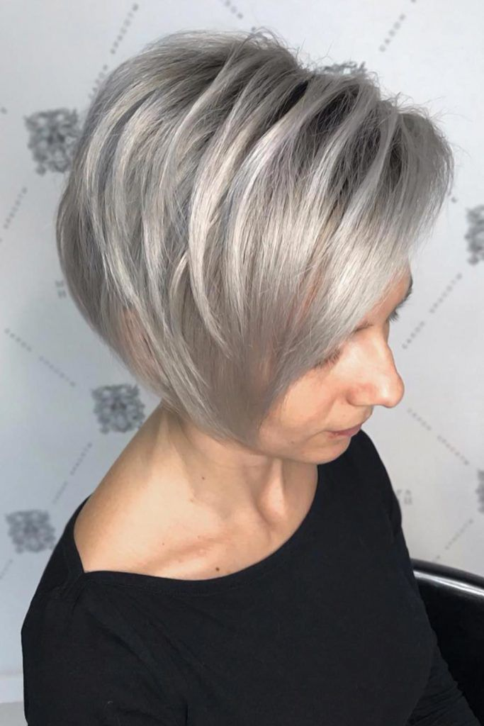 Layered Top Long Pixie