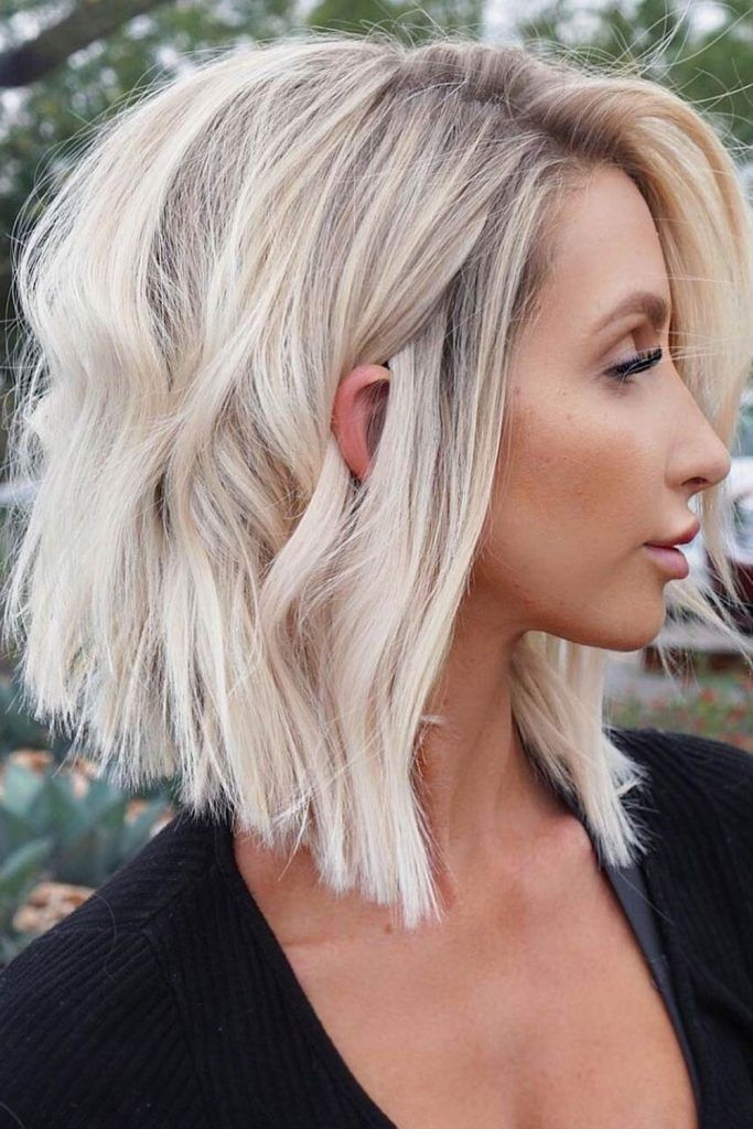 Best Short Hairstyles For Wavy Hair - Lob