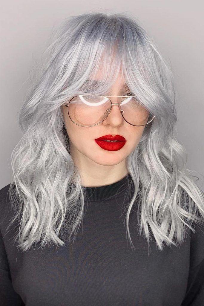 Silver Wavy Hair Style