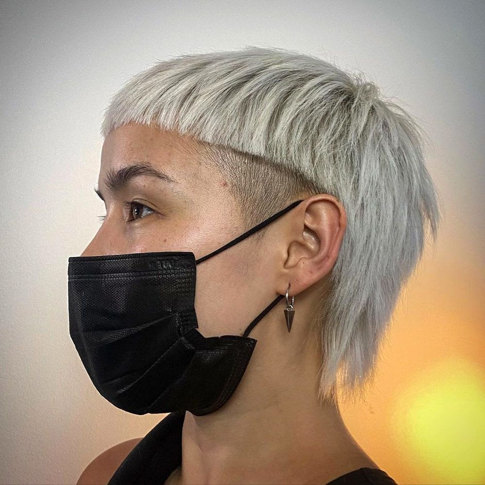 Silver Mullet With an Undercut