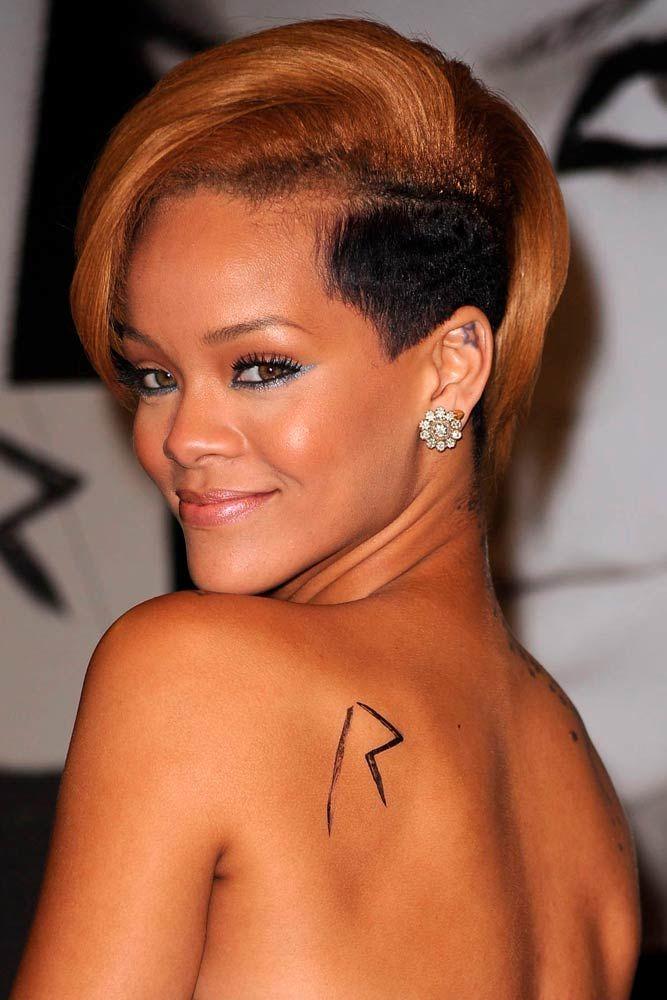 Rihanna Long Pixie With Undercut
