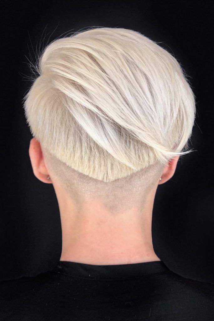Pixie Bob With Clean Shaved Sides