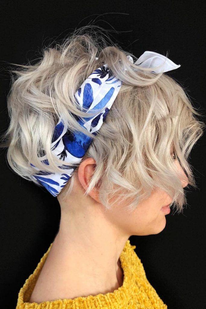 Pixie-Bob Haircut With Headscarf, pixie bob hairstyles, pixie-bob, pixie bob hairstyles for women