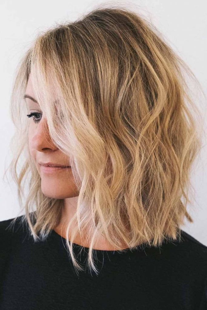 Highlighted Sandy Blonde With Shadow Roots