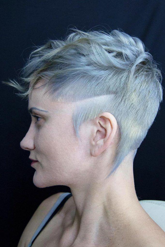 Wavy Long Top & Short Sides Androgynous Haircut