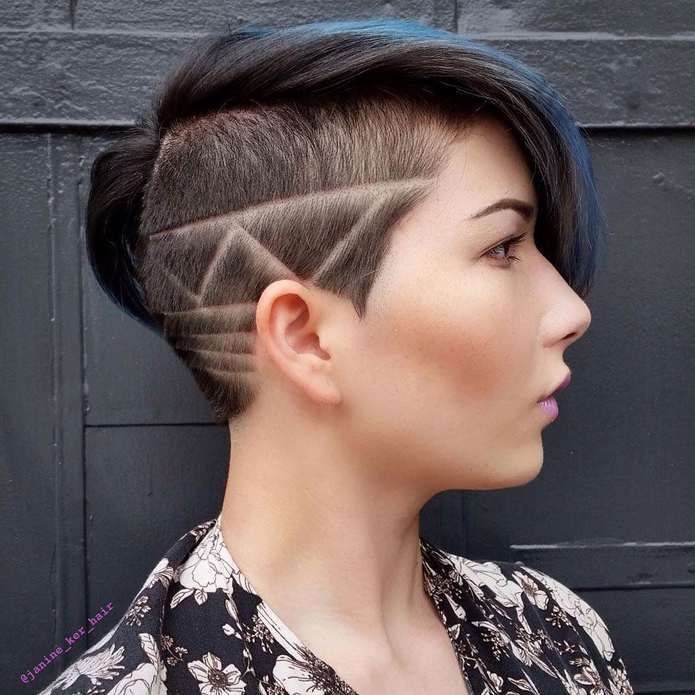 Punky Androgynous Cut With Hair Design
