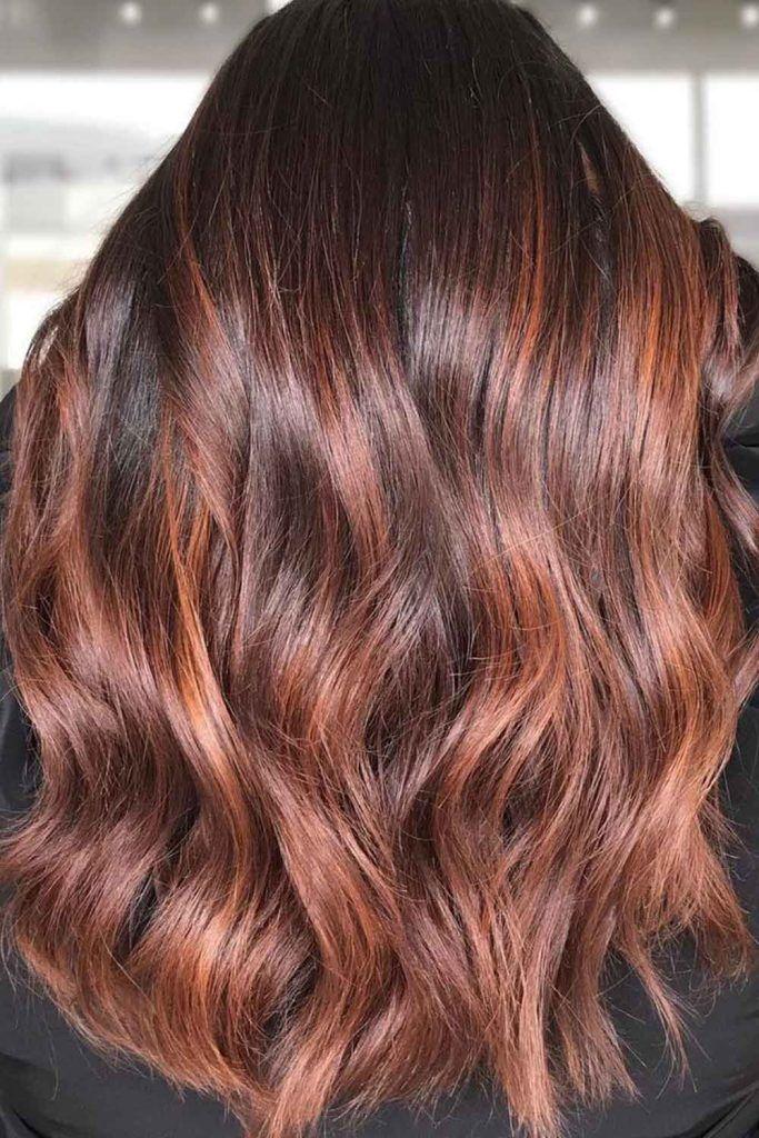 Dark Brown Copper HaIr Color
