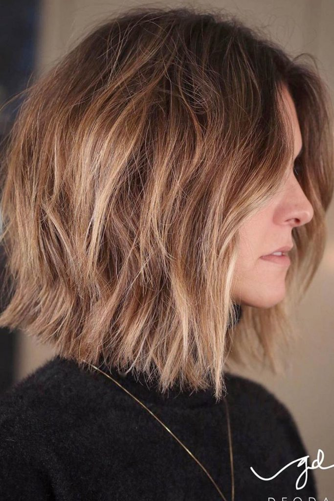 Inverted Bob With Messy Layers