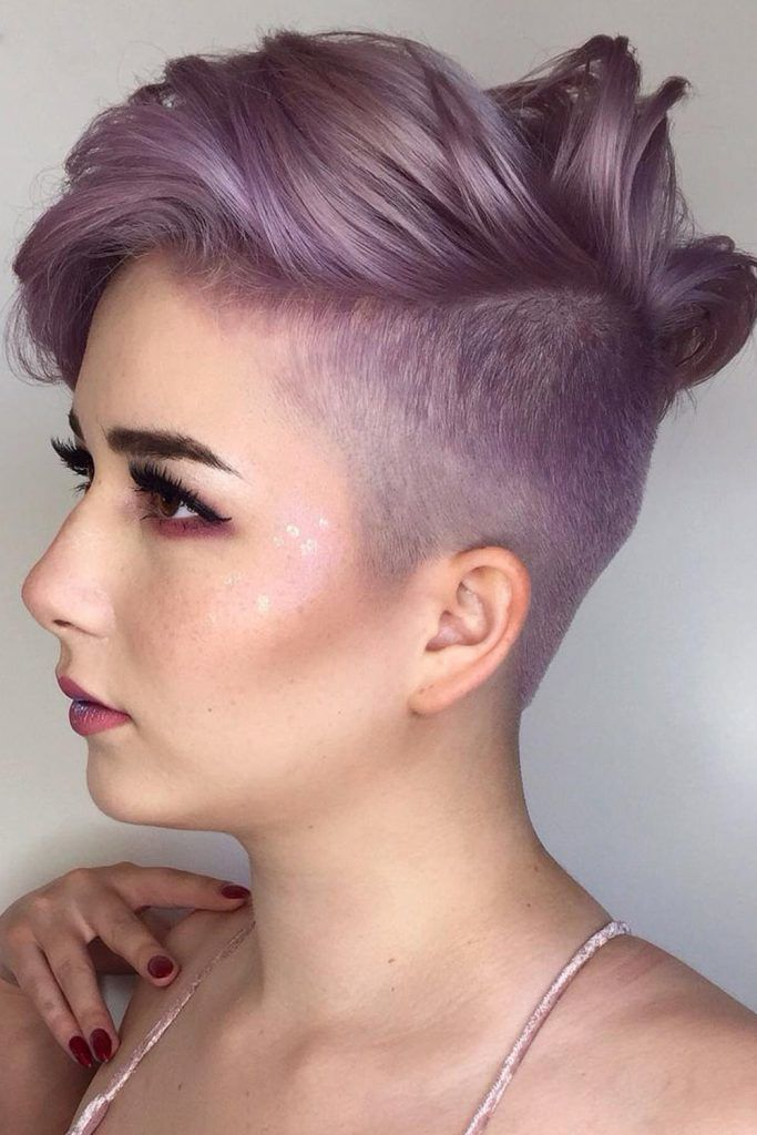 Brave Short Haircut With Shaved Sides
