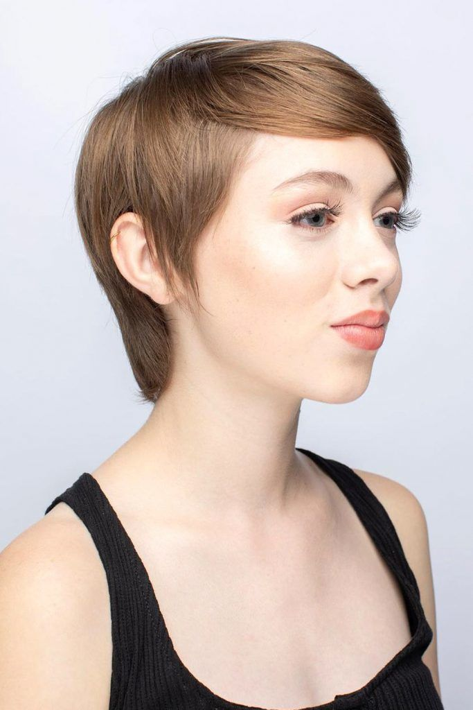 Side Swept Style For Long Face