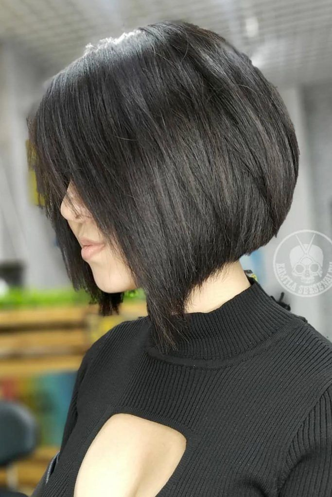 Inverted Bob With Rounded Back