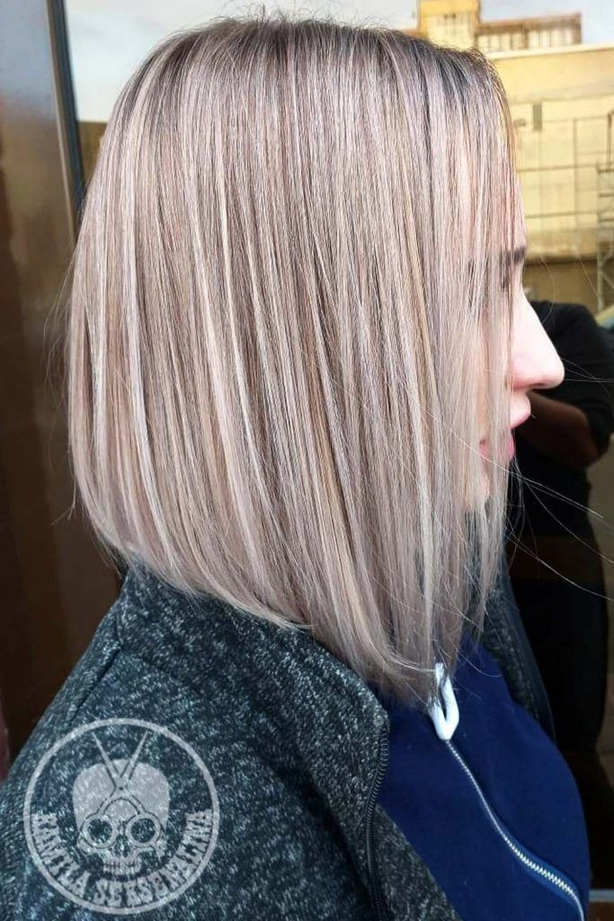 Smoothly Flowing Inverted Bob Cut
