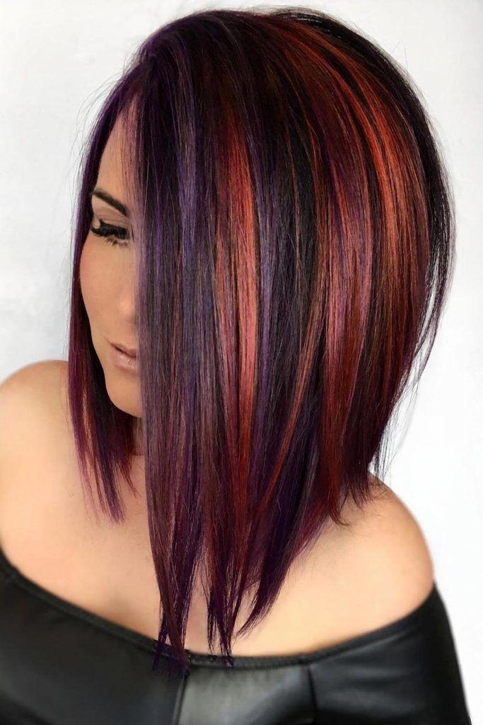 Splash Of Color + Bob Haircut