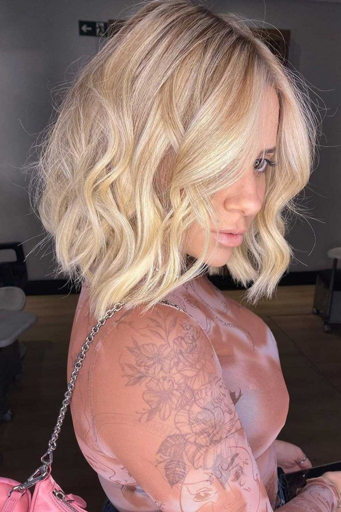 Inverted Bob For Coarse Wavy Hair