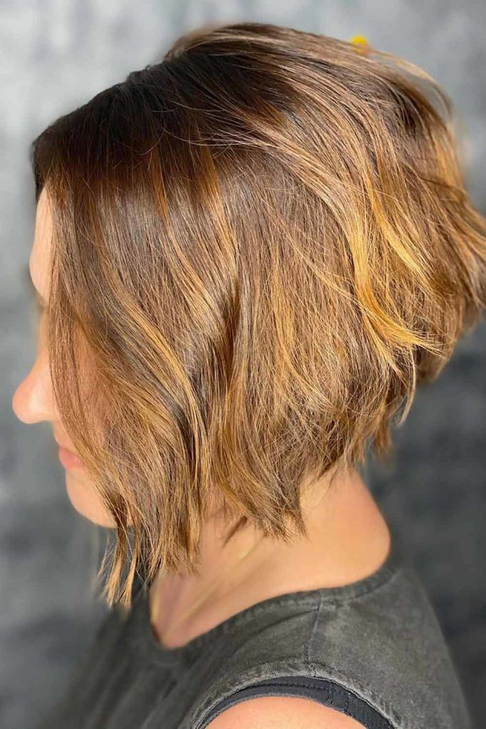 Textured Hairstyles For Inverted Bobs Brown #invertedbob #bob