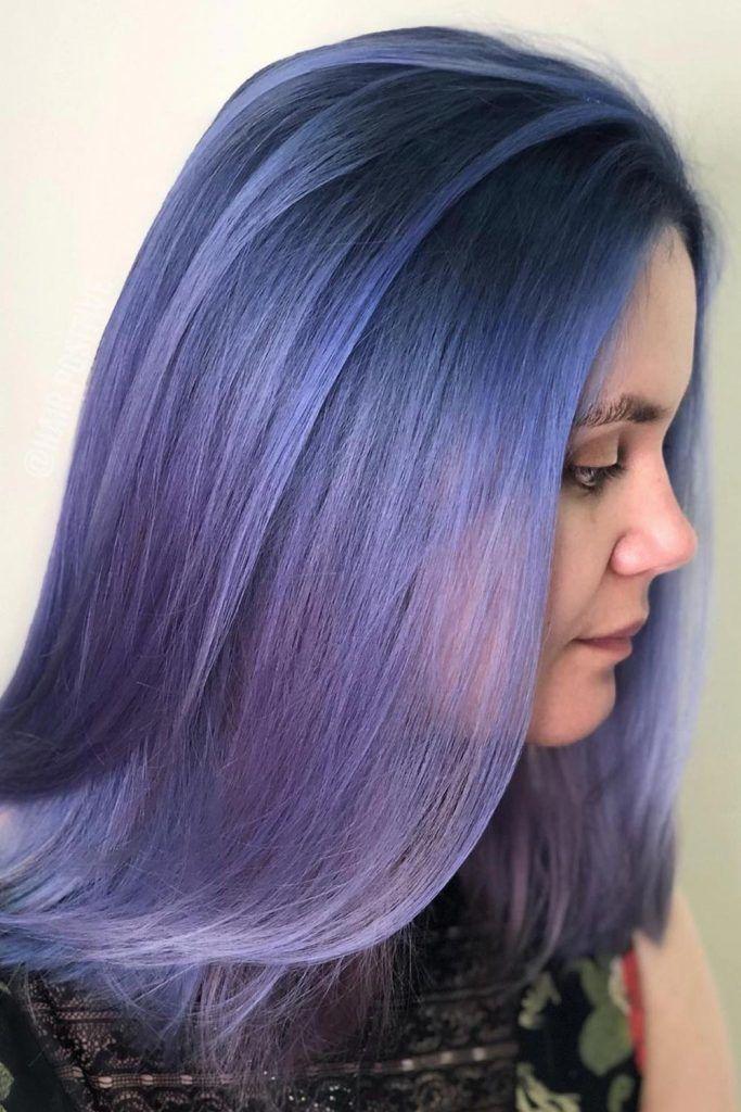Dark Periwinkle Hair