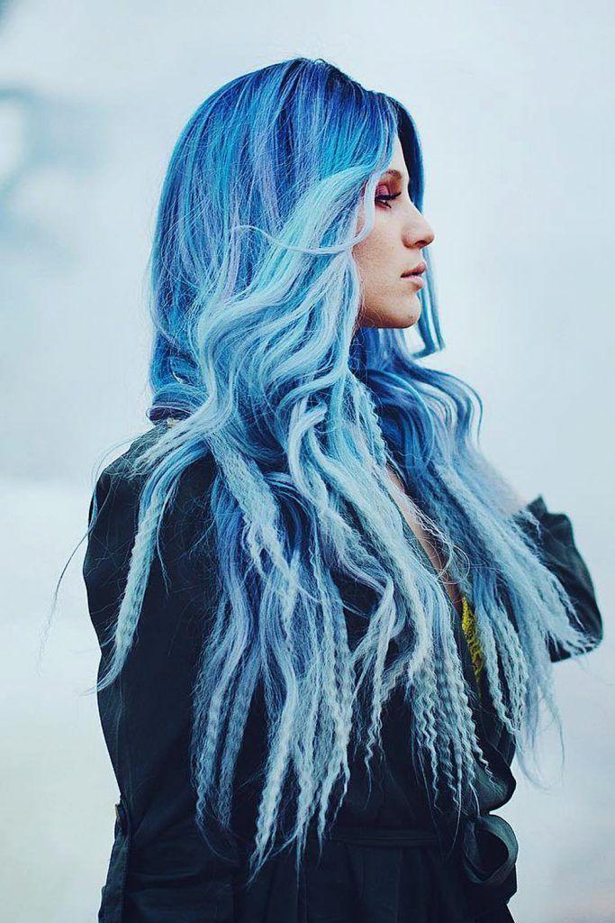 Dark Periwinkle Hair With Deep Blue Undertones