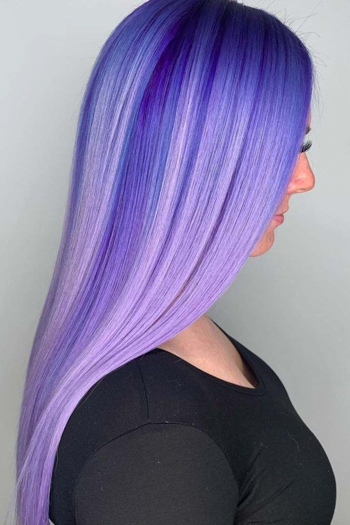 Dark Periwinkle Long Hair