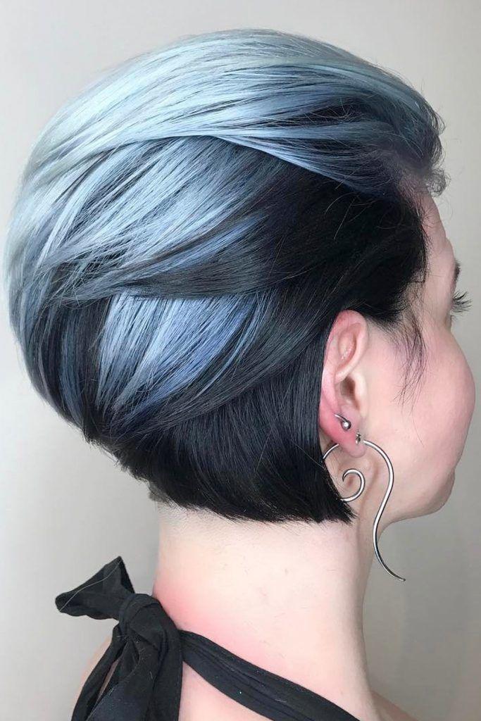 Dark & Periwinkle Short Hair Combo