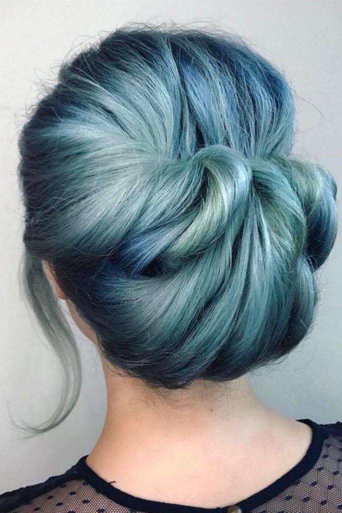 Dark & Periwinkle Hair Combo