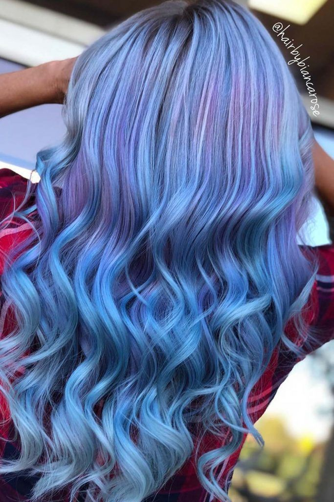 Hair Trends With Periwinkle Color Highlights