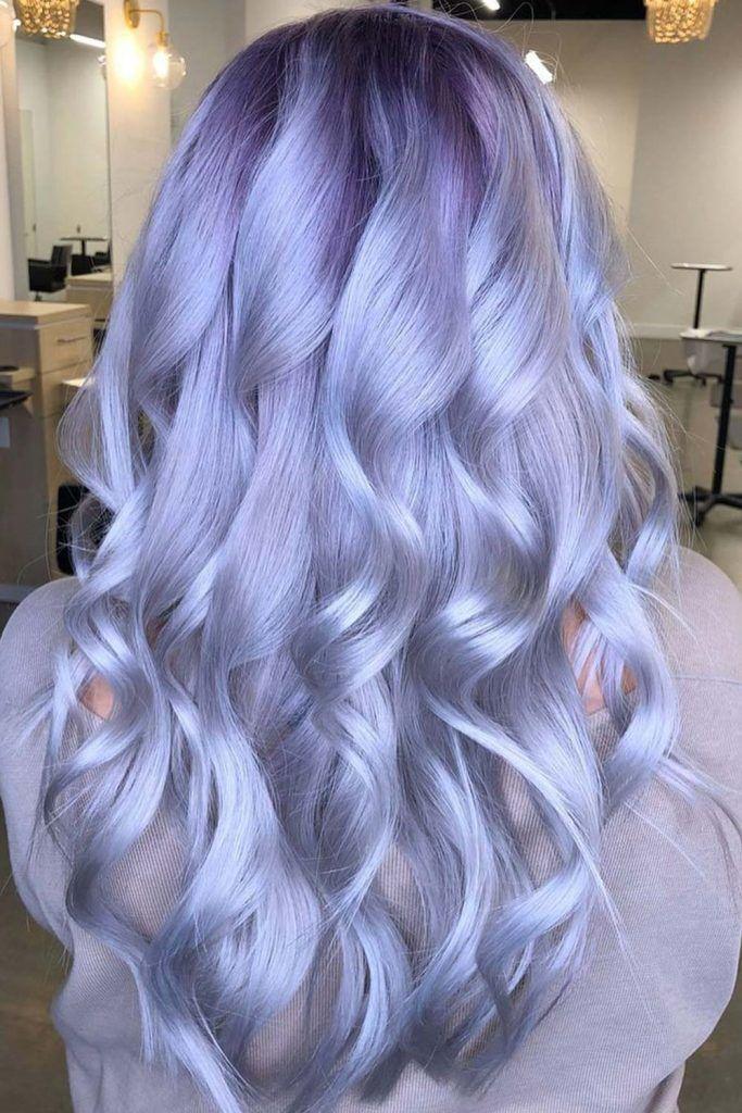 Platinum Periwinkle Hair