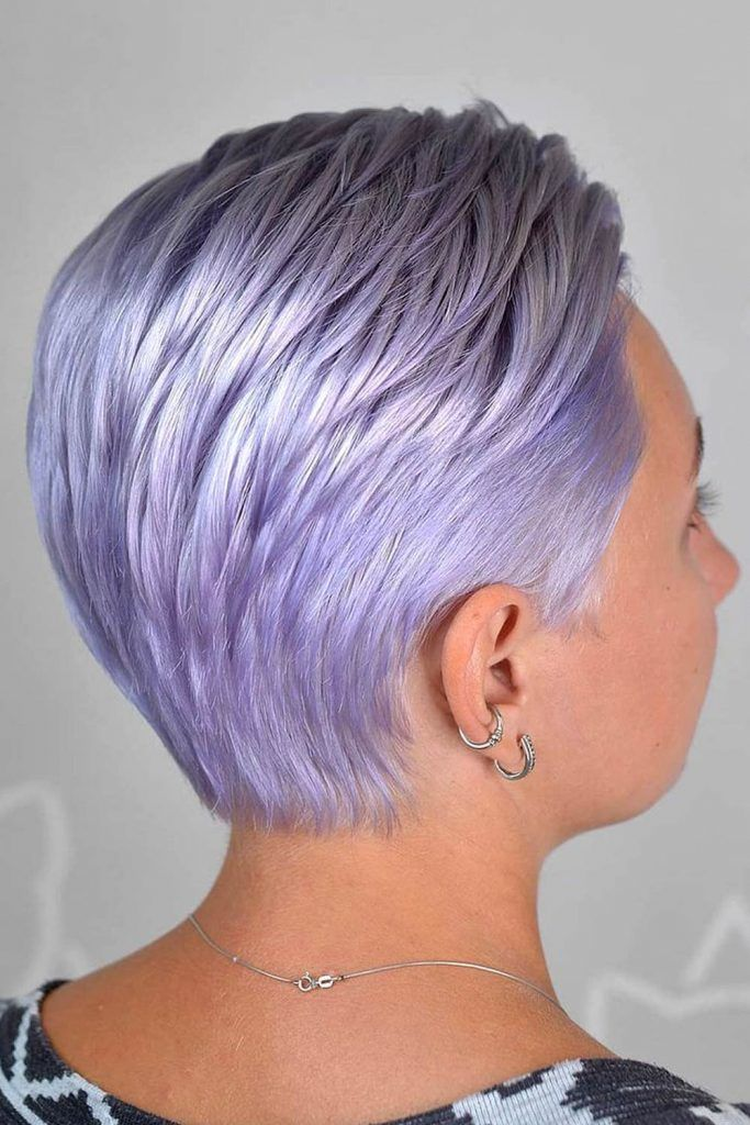 Platinum Periwinkle Short Hair