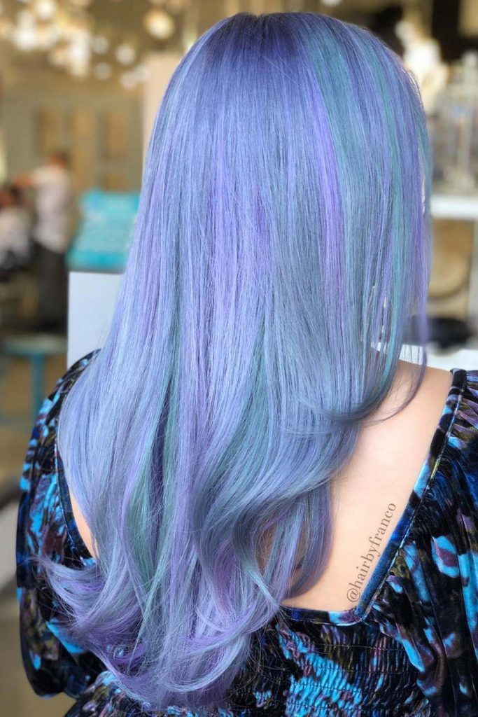 Hair Trends With Periwinkle Color Soft Highlights