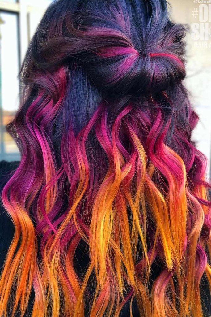 Dark Sunset Ombre Hair