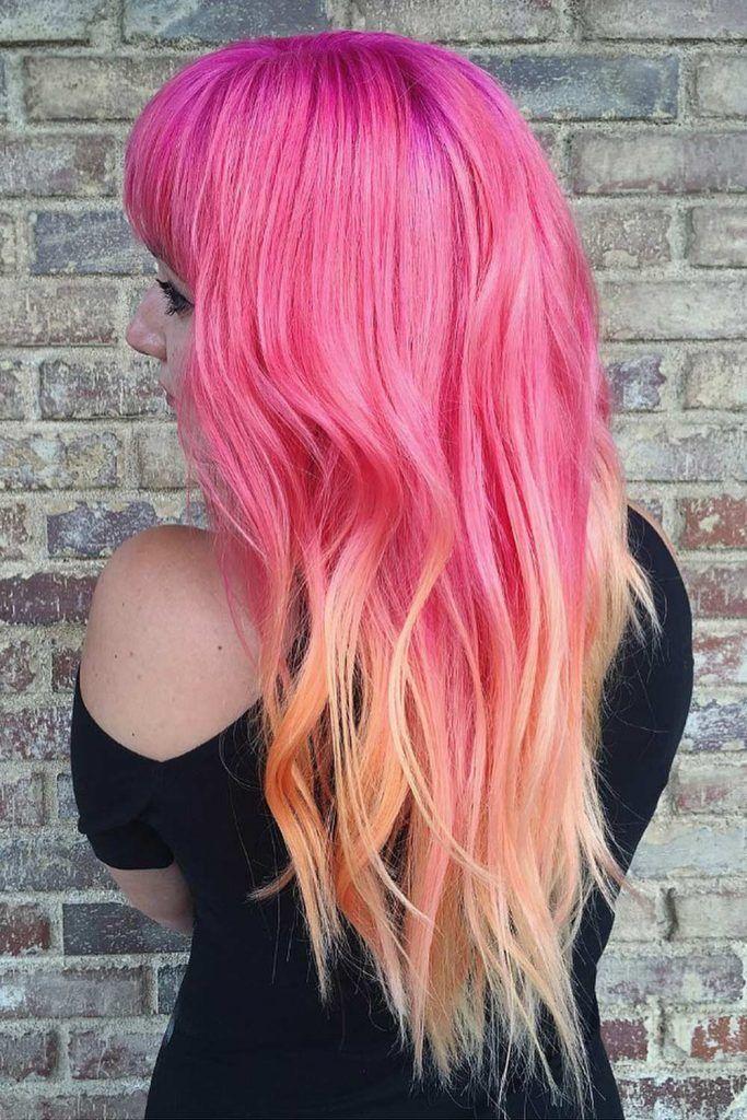 Light Peachy Sunset Color Hair Trend