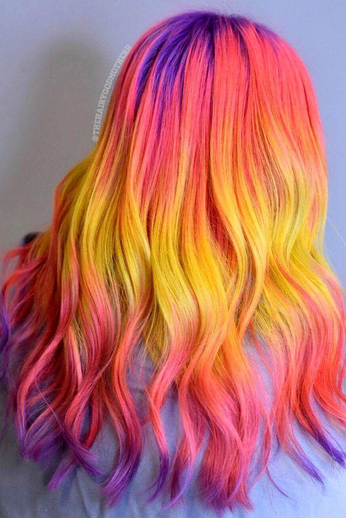 Neon Shades Hair Trend