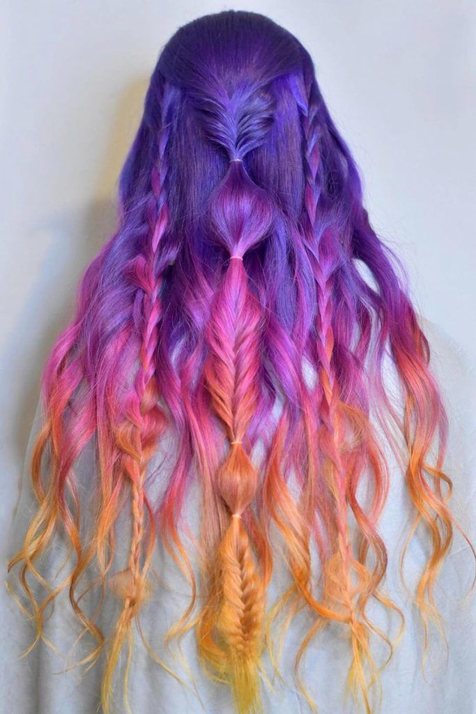 Ombre Sunset Braided Hair