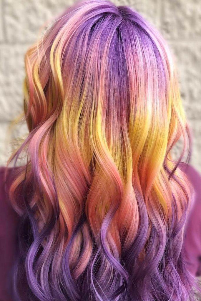 Cozy Pastel Sunset Hair