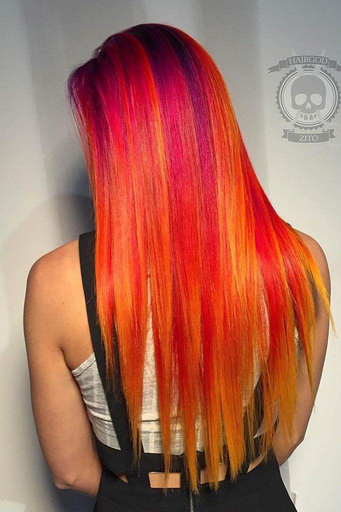 Long Hair Sunset Vibes